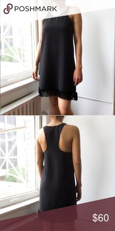 """Atid Redo Dress Racerback dress with fringe. So many ways to wear! 33.5"""" from top of shoulder to hem including fringe (for the S). 92% polyester, 4% Lycra and spandex. Brand new, with tags from wholesale. Available in S M L Atid Clothing Dresses Midi"""