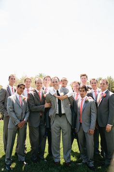 Grooms tie navy and different to groomsmen who match with bridesmaid for Neil silver grey tie to match with Fran? or peach / champagne tie (from marriage) to bring in pale pink / peach hue? My Dream Wedding and My Dream Marriage. Aqua Wedding, Gray Weddings, Wedding Pics, Wedding Bells, Wedding Colors, Dream Wedding, Wedding Ideas, Wedding Bridesmaids, Bridesmaid Dresses