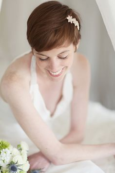 short hairstyle for bride