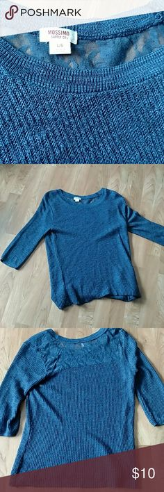 Mossimo navy blue sweater with lace detail Cute lightweight navy sweater from Target with stylish lace on the back Mossimo Supply Co Tops