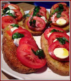 Tomato and Bocconcini Bruschetta