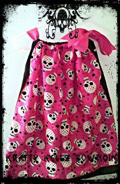 Black and Pink Skull Dress