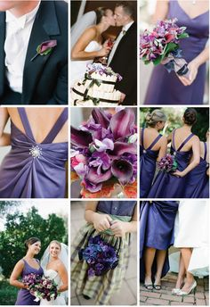 Eggplant Wedding - wish this had been a popular color back 20 years ago ... I totally would have chosen it!