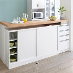 ディノス(dinos)オンラインショップ、こちらはストレートライン カウンター下引き戸収納庫 幅150 奥行30cmタイプの商品ページです。商品の説明や仕様、お手入れ方法、 買った人の口コミなど情報満載です。 Kitchen Cart, Double Vanity, Home Goods, New Homes, Interior, Table, Room, Furniture, Home Decor