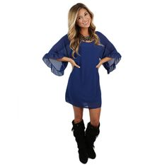 Blushing Over You Dress in Royal Blue | Impressions Online Women's Clothing Boutique