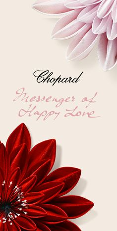 Tenderly, Romantically, Passionately... Express your love with #Chopard!