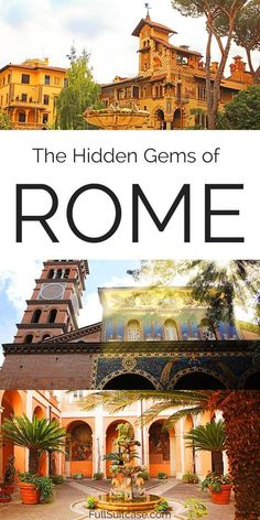 Rome secret places and hidden gems in Rome that most tourists never see. Find out and get off the beaten path! Italy Travel Tips, Rome Travel, Europe Travel Guide, Travel Destinations, Travel Guides, Visit Rome, Rome Places To Visit, Secret Places, Hidden Places