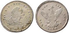 NumisBids: Nomisma Spa Auction 50, Lot 179 : PALERMO Carlo di Borbone (1734-1759) 4 Tarì 1753 – Spahr 105; MIR...