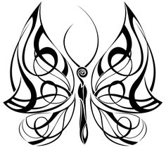 Butterfly Tattoo Drawings | tribal butterfly tattoo 4 Celtic Butterfly Tattoos Designs