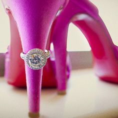 Pink Louboutin and a Ring - The ideal engagment!