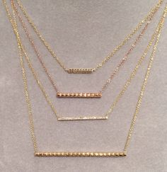 Gemma Collection loves bar necklaces for their sleek, fashion forward element.