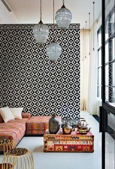 Vliestapeten Kleben Muster Wohnzimmer Wandgestaltung Ideen