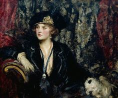 """""""Black and Silver"""" (c. 1910) by Sir James Jebusa Shannon (1862-1923)."""