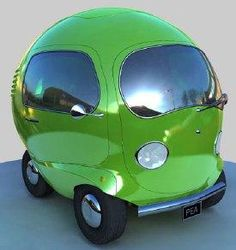 The Pea Car.  I could crochet one of these!
