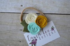 READY TO SHIP Aqua Blue Mustard Yellow and by LauraLeeDesigns108