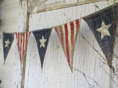Primitive Olde American Flag Patriotic by funkyshique... Love this!