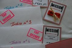 Organiser un anniversaire sur le thème des Agents Secrets...pour les enfants copyrights : www.creastucieuse.unblog.fr
