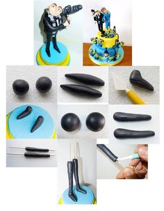 Despicable me Gru How to make a Gru model gum paste or fimo minions
