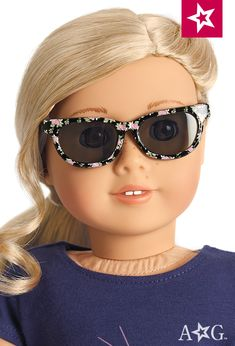 Tenney American Girl Doll Tenney/'s Rosy Floral Sunglasses NEW!