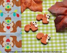 3 magic wood Eichhörnchen Zierknöpfe aus der Feder von Cherry Picking zum pimpen eurer genähten Werke ♥ ♥ ♥  Die Knöpfe sind aus Polymer Clay in liebevoller Handarbeit hergestellt. Jeder Knopf ist...