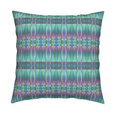 Catalan Throw Pillow featuring MUSIC DRUMS BLUE AQUA BOHO SUNNY AFTERNOON STRIPES by paysmage   Roostery Home Decor