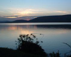 Sunset over the lake Mburo at #Lake Mburo National Park, #Uganda  Photography By: Neil and Tricia Farrow