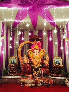 Ganesh Chaturthi (IAST: Gaṇēśa Chaturthī), also known as Vinayaka Chaturthi (Vināyaka Chaturthī), is the Hindu festival that reveres god Ganesha.[1] A ten-day festival, it starts on the fourth day of Hindu luni-solar calendar month Bhadrapada, which typically falls in Gregorian months of August or September. The festival is marked with installation of Ganesha clay idols privately in homes, or publicly on elaborate pandals (temporary stage). Observations include chanting of Vedic hymns and…