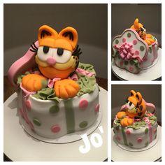 Garfield cake ,cake design , fondant cake