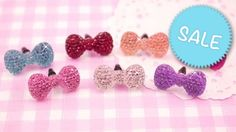 Add a bit more bling to your deco phone case with these super cute sparkle kawaii bow dust plugs set! You will receive 7 headphone stoppers that will fit most mobile phone headphone sockets. Kitsch, Craft Supplies Uk, Scrapbook Supplies, Candy Crystals, Kawaii Crafts, Sparkle, Card Making, Jewelry Making, Dust Plug