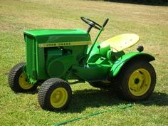 Use the John Deere 112 Tractor for Lawn Care Maintenance This Spring John Deere Garden Tractors, Tractors For Kids, Yard Tractors, Small Tractors, Compact Tractors, John Deere Equipment, Tractor Birthday, Lawn Maintenance, Antique Tractors