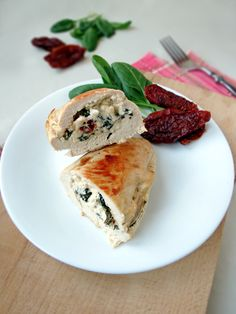 Chicken Breast Stuffed With Feta, Spinach And Sun-Dried Tomatoes   YummyAddiction.com