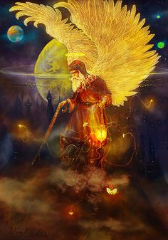 Angel Uriel by Steve Roberts - Angel Uriel Painting - Angel Uriel Fine Art Prints and Posters for Sale