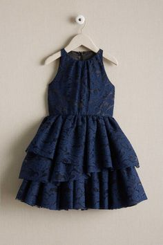 Shop Chasing Fireflies for our Girls Tiered Lace Dress.Our dresses span a girl's lifestyle — from everyday casual wear, to holidays and occasions that call f Baby Frocks Style, Baby Girl Frocks, Baby Frocks Designs, Kids Frocks Design, Frocks For Girls, Baby Girl Dresses, Girls Frock Design, Baby Dress Design, Chic Dress