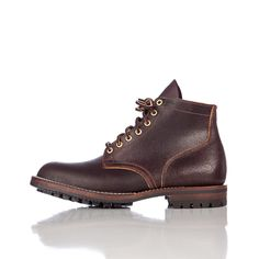 Viberg Service Boot in Brown Waxed Flesh (Commando Sole)