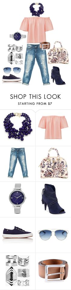 """Rose"" by claudia-regina-vieira-correa on Polyvore featuring moda, Kenneth Jay Lane, Rebecca Taylor, Sans Souci, Tory Burch, Nine West, Vince Camuto, Superga, Christian Dior e Boohoo"