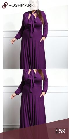Long purple dress Long purple gown Dresses Maxi