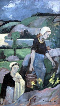 Paul Serusier , the washerwomen 1891