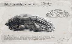 Organic hovercraft, John Bruk - artist Alien Ship, Spaceships, Fantasy Art, Organic, Artist, Space Crafts, Fantastic Art, Artists, Spaceship