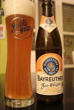 Bayreuther Bio-Weisse naturtrüb der Maisel - Bier - beer WHEAT BEER, MY FAVORITE + ORANGE SLICE