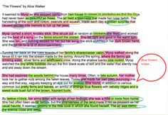 Using PREVIEW on a MacBook, the students annotate pieces of literature during class discussions or for homework.