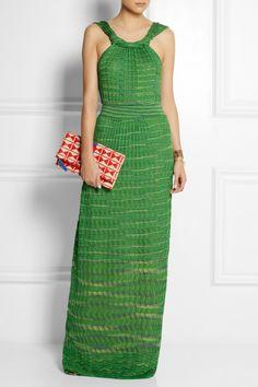 M Missoni|Crochet-knit cotton-blend maxi dress|NET-A-PORTER.COM