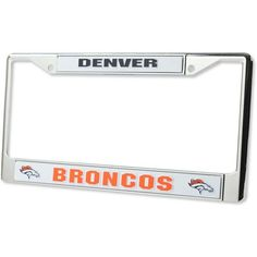 Rico Industries Denver Broncos Chrome License Plate Frame ($15) ❤ liked on Polyvore featuring silver