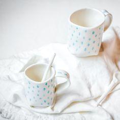 Rain Drop Cup Rain Drops, Tasmania, Wander, Artisan, Ceramics, Mugs, Tableware, Handmade, Ceramica