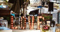 CBV220 Weddings Riviera Maya Vintage, LOVE illuminated sign /letrero iluminado