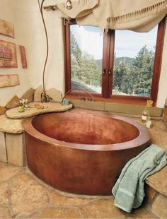 Love the copper tub