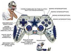 All The Tony Romo Jokes That Never Get Boring For Dallas Cowboys Haters tony-romo-meme-controller Dallas Cowboys Funny, Cowboys Memes, Real Cowboys, Tony Romo Jokes, Funny Nfl, Hilarious, Football Jokes, Nfl Jokes, Football Pics