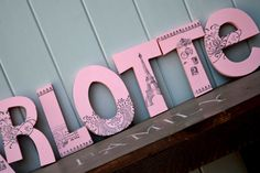 Personalized Wooden Wall Letters for Kids' Rooms - Paris Parisian Theme, Eiffel Tower, Fleur de Lis, Vintage, Shabby Chiq, Black and Pink on Etsy, $10.00 Wooden Wall Letters, Nursery Letters, Letter Wall, Monogram Letters, Parisian Room, Parisian Wedding, Letters For Kids, Spice Cake, Baby Fever