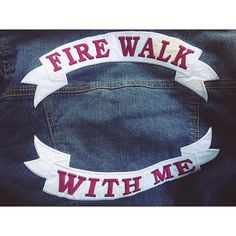 Twin Peaks Fire Walk With Me Patch Denim Jacket by Southbest