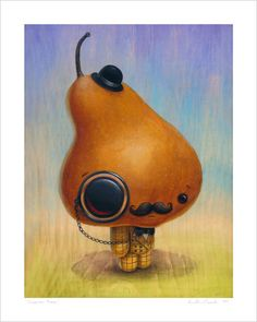 """""""Inspector Bosc"""" giclee print, signed with title and year.  8"""" x 10"""" $25.00"""