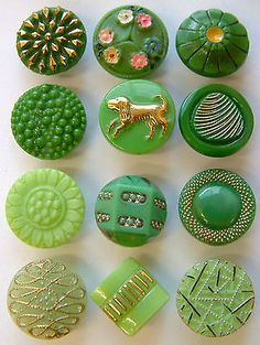 12 Vintage Decorative Gre...